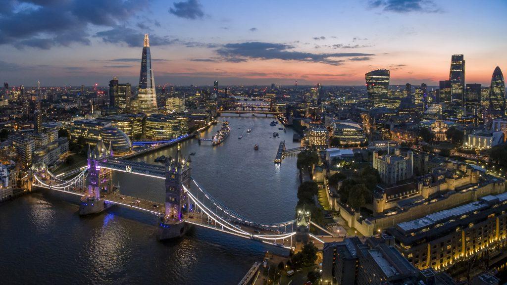 Rooftop views in London
